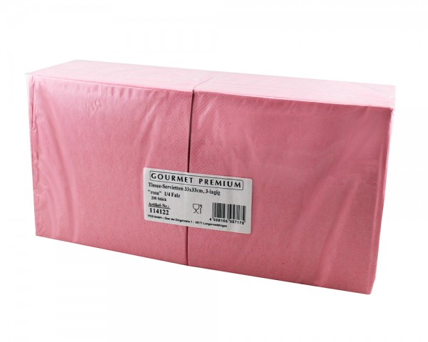 Servietten 33x33 cm 3-lagig rosa günstig kaufen