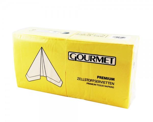 Servietten gelb 33x33 cm 3-lagig günstig online kaufen