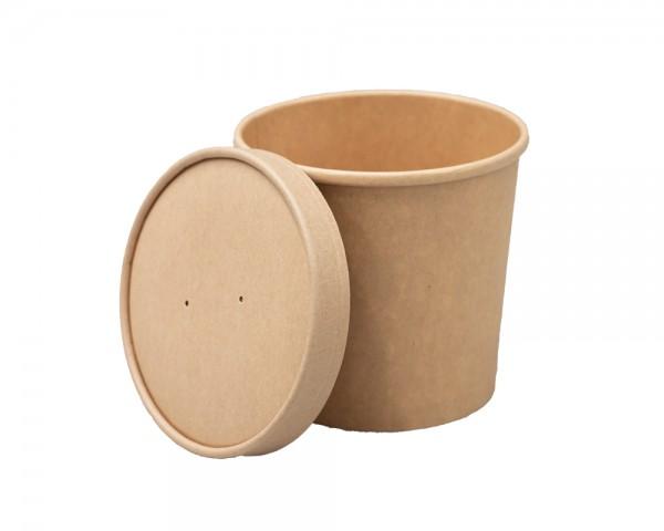 Suppenbecher 26 oz aus Pappe mit Deckel günstig kaufen