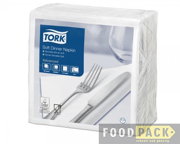 Servietten 40x40 cm weiß günstig kaufen