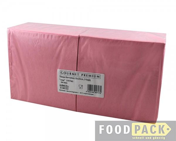 Servietten 33x33 cm rosa günstiger kaufen
