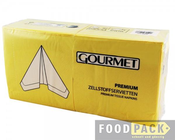 Servietten 33x33 cm gelb günstig kaufen