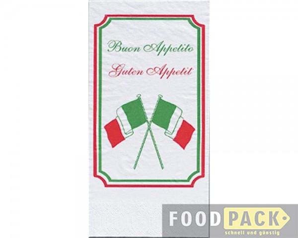 Servietten 40x40 cm italienische Flagge günstig kaufen
