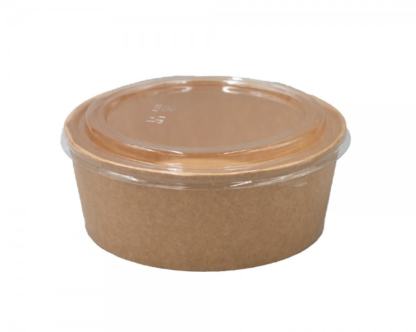 Salat Bowl 1300 ml aus Pappe mit Deckel günstiger online kaufen